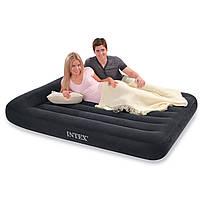 Надувная матраc - кровать Intex, 66780 полуторная с насосом (191*137*30 см)