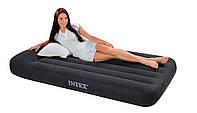 "Надувная матраc - кровать Intex, 66767 односпальная ""Pillow Rest"" (99х191х30 см)"