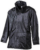 Дождевик - куртка чёрный MFH
