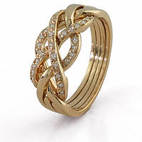 Женское золотое кольцо с бриллиантами от Wickerring