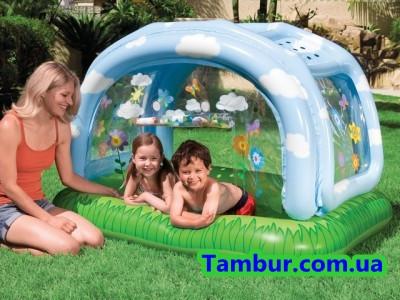 Детский надувной бассейн с тентом INTEX