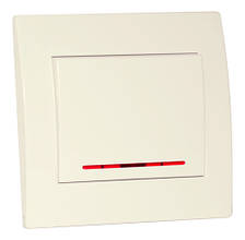 SVEN Выключатель Home SE-101L одинарный с индикатором скрытого типа белый
