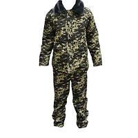 Зимний камуфляжный костюм пограничных войск Украины (с бушлатом)