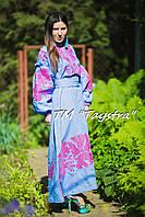 Модное стильное вечернее платье  бохо вышиванка лен,этно,бохо шик,вишите плаття,на свадьбу, выпускное платье