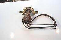 Луза выкатная латунь (Скоба фигурная с чернением, викатная, сетка-кожа)
