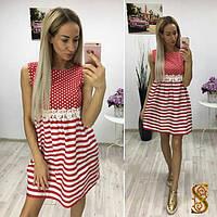 Платье женское красное в полоску ОС/-732