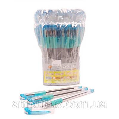 Ручка шариковая пишет синим PB-600 (0.5мм), корпус бирюзовый