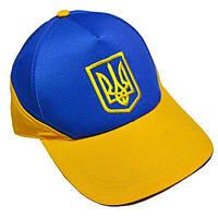 Кепка жёлто-синяя с гербом