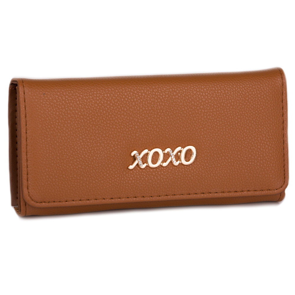 Стильный женский кошелек D001 brown