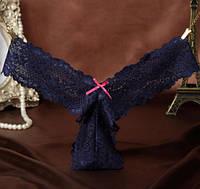 Женские трусики синие. Низкие цены. Хорошее качество.