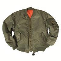 Куртка бомбер летная MA1 оливковая Mil-Tec