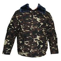 Куртка камуфляжная зимняя на натуральной овчине Дубок