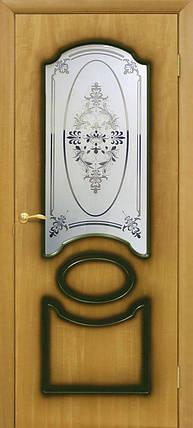 Полотно дверное шпонированое ТМ ОМИС Виктория СС+ФП Орех миланский, фото 2