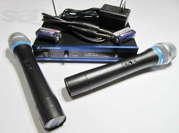 Мікрофон бездротовий SENNHEISER EW-100 база 2 радіомікрофона ЯКІСТЬ !