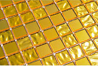 Золотая мозаика на сетке Vivacer HL-198