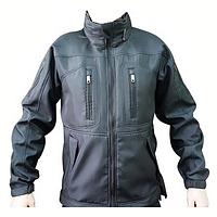 Куртка тактическая Softshell черная