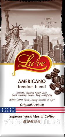 Кофе в зернах ТМ Lu've Americano Freedom Blend (75% арабики) 1кг, фото 2
