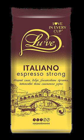 Кофе в зернах ТМ Lu've Italiano Espresso Strong (20% арабики) 1кг, фото 2