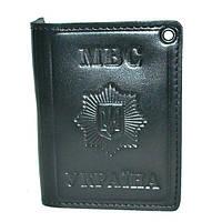 Обложка на документы МВД с виниловым значком