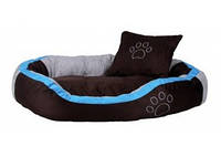 Trixie - Bonzo Лежак для собак, бирюза-серый-коричневый, 60х50см