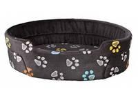 TRIXIE - Jimmy Лежак для собак, серый с лапами, 110х95см