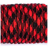Паракорд 550 красный с черным garfield 126