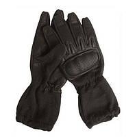 Перчатки Nomex Action c отворотом и ударной пластиной чёрные