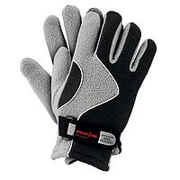 Перчатки спортивные зимние REIS чёрно-серые