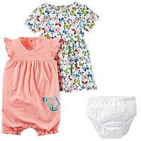 Комплект  для девочки Carters платье и ромпер