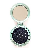 Расческа с зеркалом Dagg зеленая , фото 1