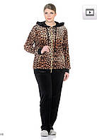 Женский велюровый турецкий костюм EZE, большие размеры 54,56,58,60 купить в Украине  , фото 1