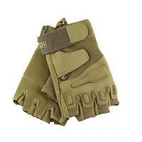 Тактические перчатки Blackhawk без пальцев coyote