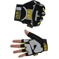 Тактические перчатки без пальцев MECHANIX black