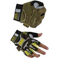 Тактические перчатки без пальцев MECHANIX coyote