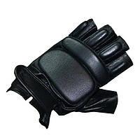 Тактические перчатки кожаные (черные)