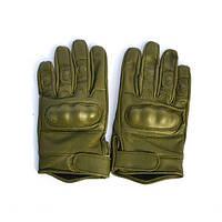 Тактические перчатки кожаные с защитой кулака