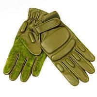 Тактические перчатки с пальцами olive