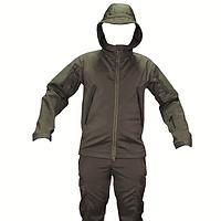Тактический костюм софтшелл waterproof windproof олива