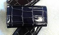 Женский кошелек синий кожаный высокого качества АКА Deri