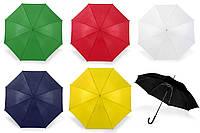 Зонт под нанесение логотипа, опт от 10 шт (трость, полуавтомат, ручка пластик, цвета разные)