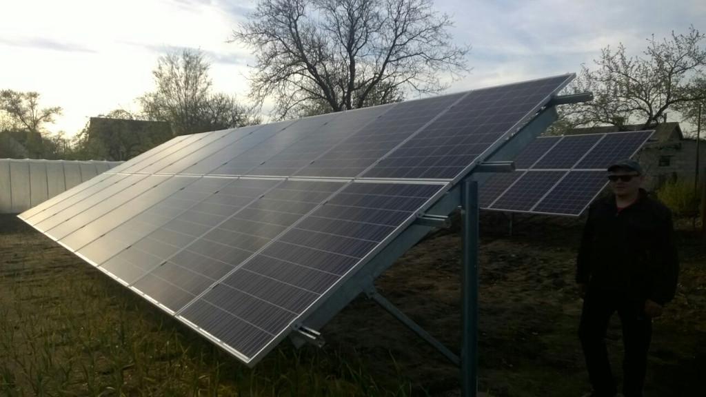 Новомосковск Солнечная домашняя электростанция под зеленый тариф мощностью 10 кВт