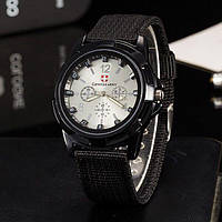 Часы мужские Gemius Swiss army черные с белым