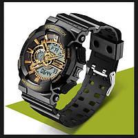 Часы спортивные Sanda Powerful Water Resistant 30 m золотые