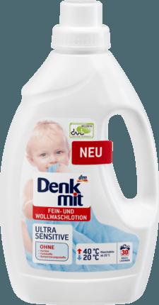 Denkmit лосьен для стирки шерстяных детских тканей Fein- und Wollwaschlotion Ultra Sensitive, 1,5 l