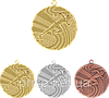 """Медаль """"Легкая атлетика"""" MMC1740/B с лентой (бронза)"""