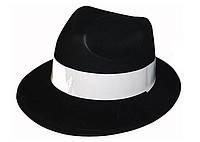 Карнавальная Пластиковая Шляпа Гангстерская Головной Убор Гангстер для Вечеринки