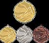 """Медаль """"Лыжи"""" MMC4950 с лентой"""