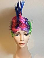 Карнавальный Искусственный Парик Цветной Ирокез для Вечеринки Маскарад