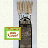 Шампура с деревянной ручкой + чехол