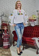 """Шифонова блузка з вишивкою """"Мелодія квітів"""""""